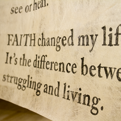 What does faith mean to you?